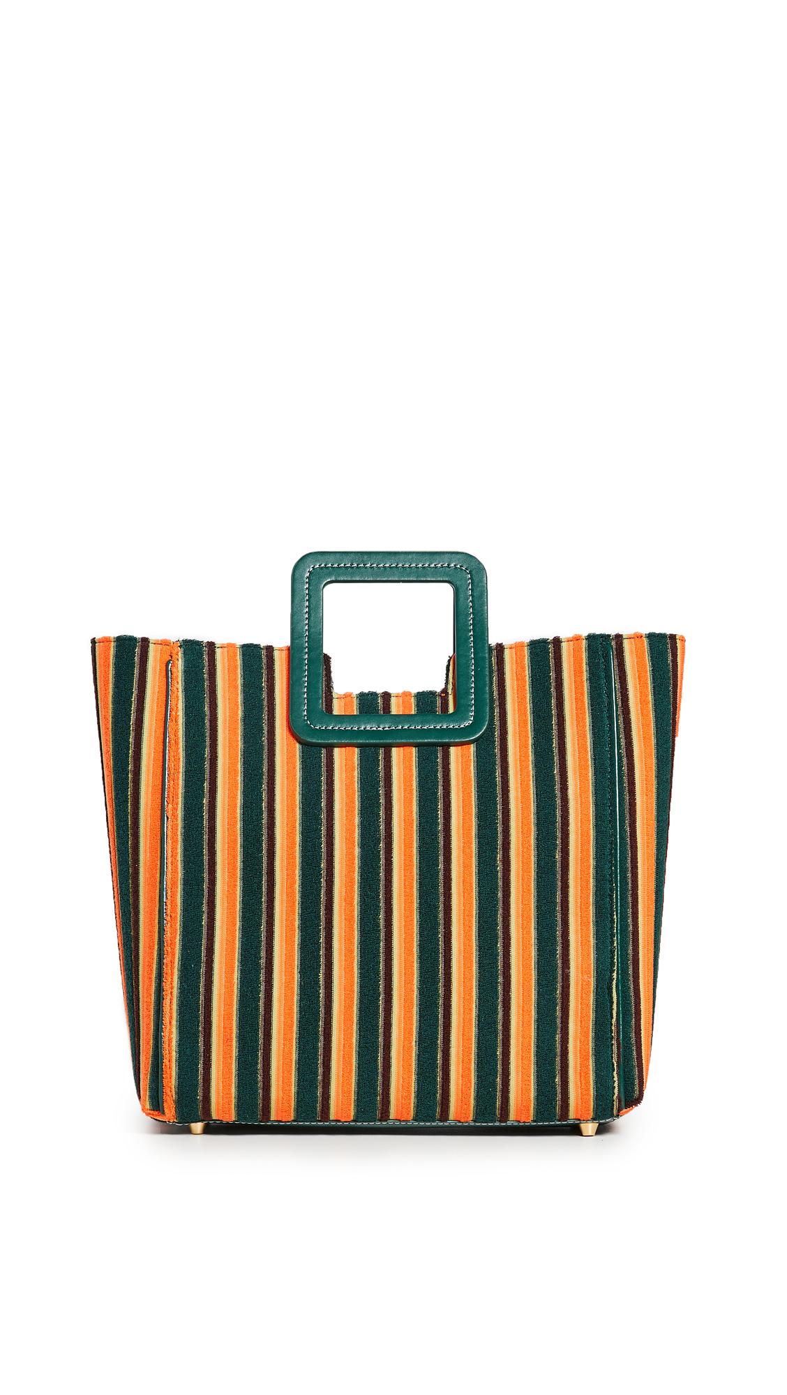 STAUD Shirley Bag - Pistachio Cantaloupe Stripe