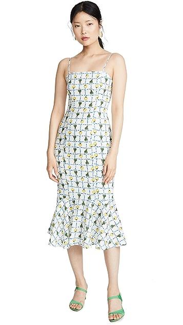 STAUD Lychee Linen Dress