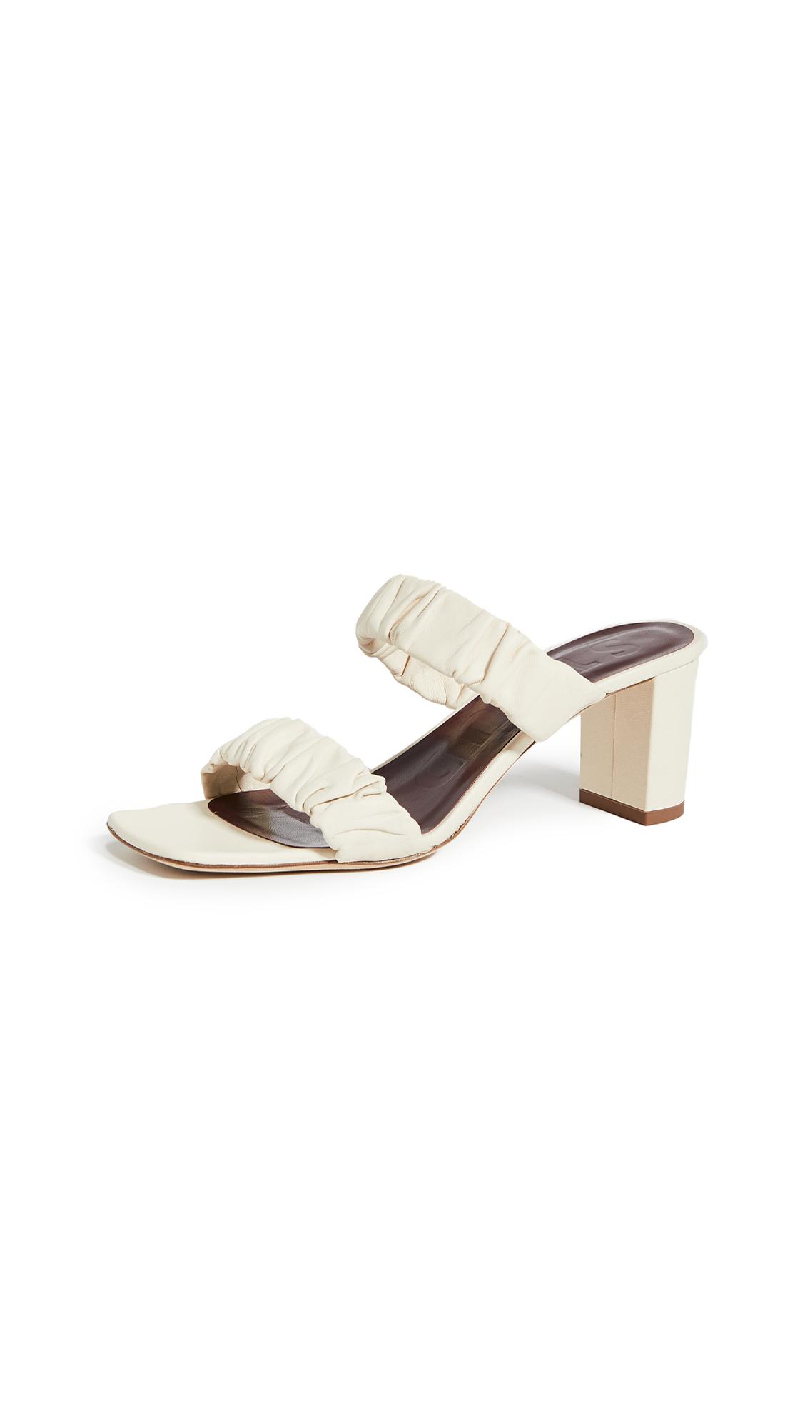 Buy STAUD Frankie Ruched Slides online, shop STAUD