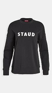 STAUD 圆领徽标运动衫