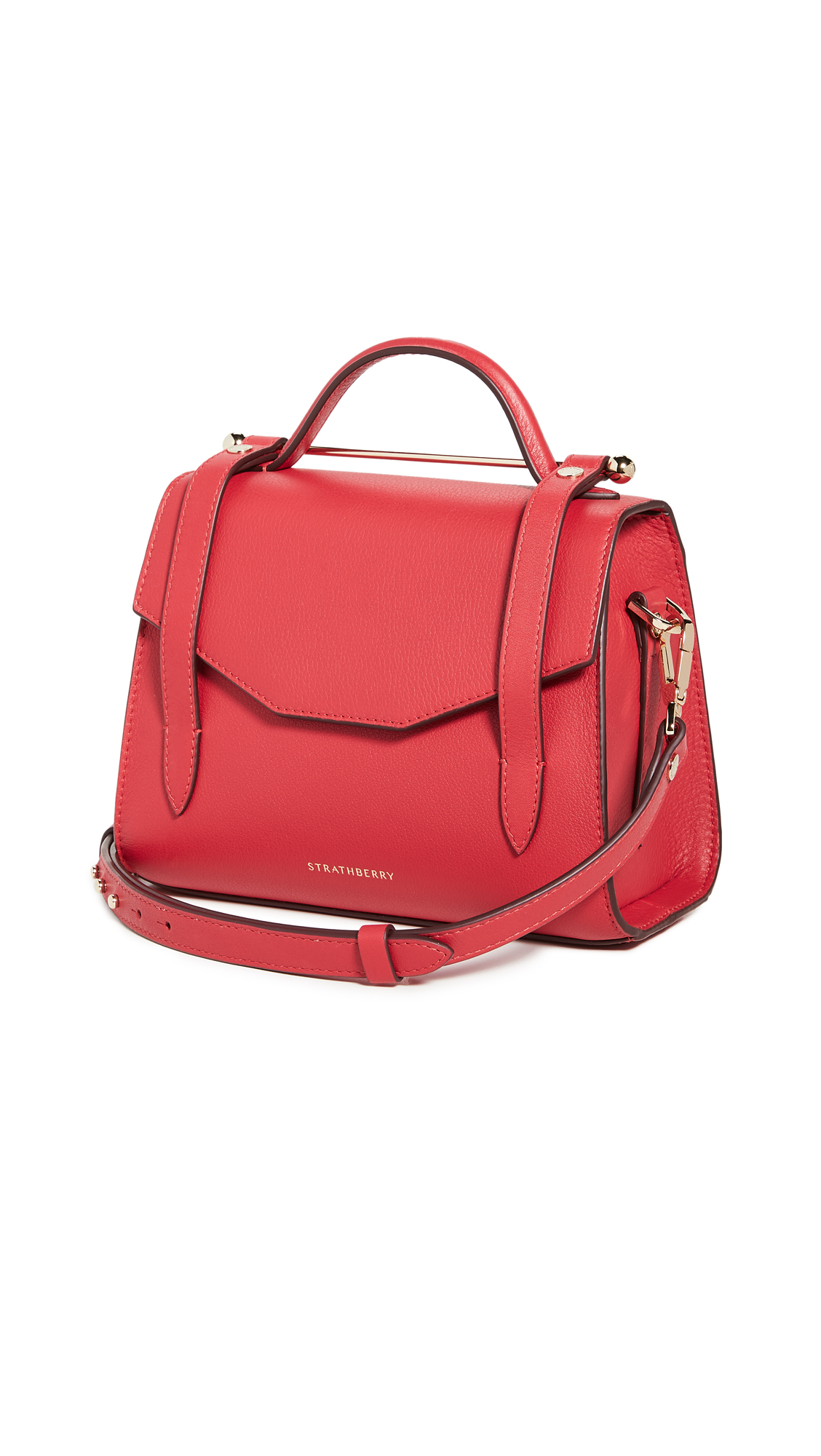 Strathberry Allegro Micro' Satchel Style Crossbody Bag In Ruby