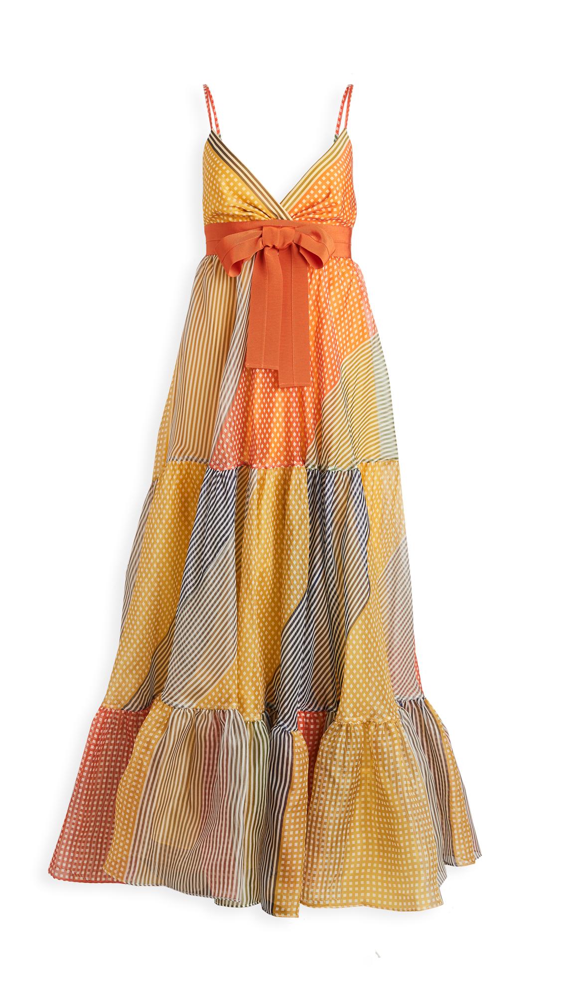 Silvia Tcherassi Tomasa Gingham Print Gown - 30% Off Sale
