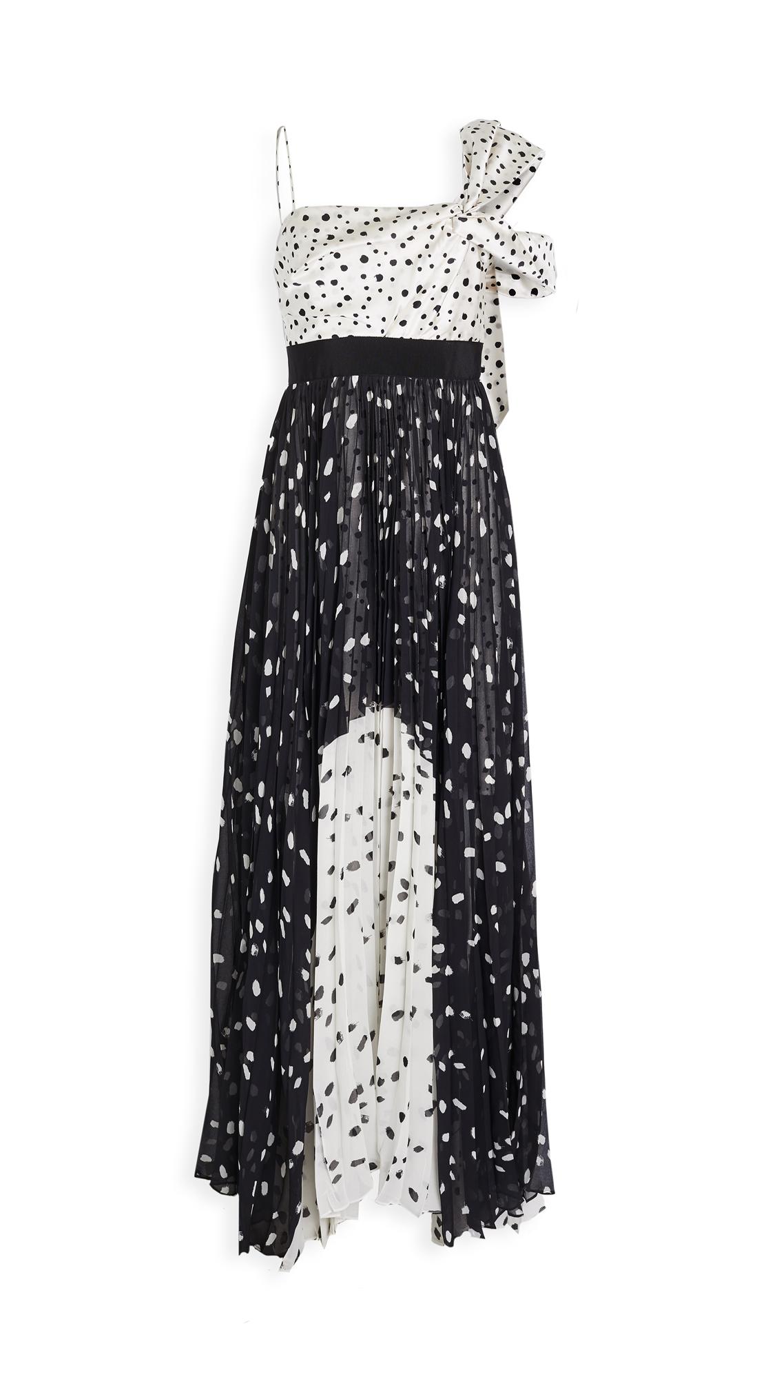 Silvia Tcherassi Salgar Polka Dot One Shoulder Gown - 30% Off Sale