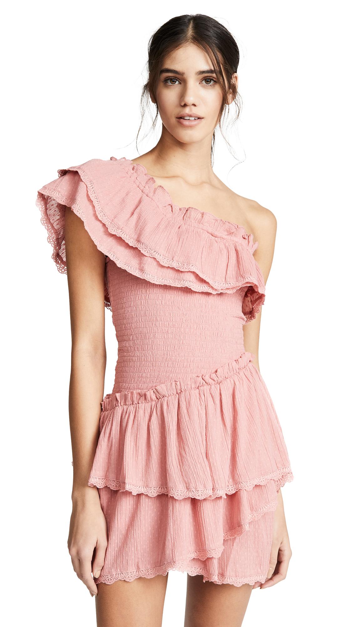 STEELE Melody Ruffle Dress in Cinnamon