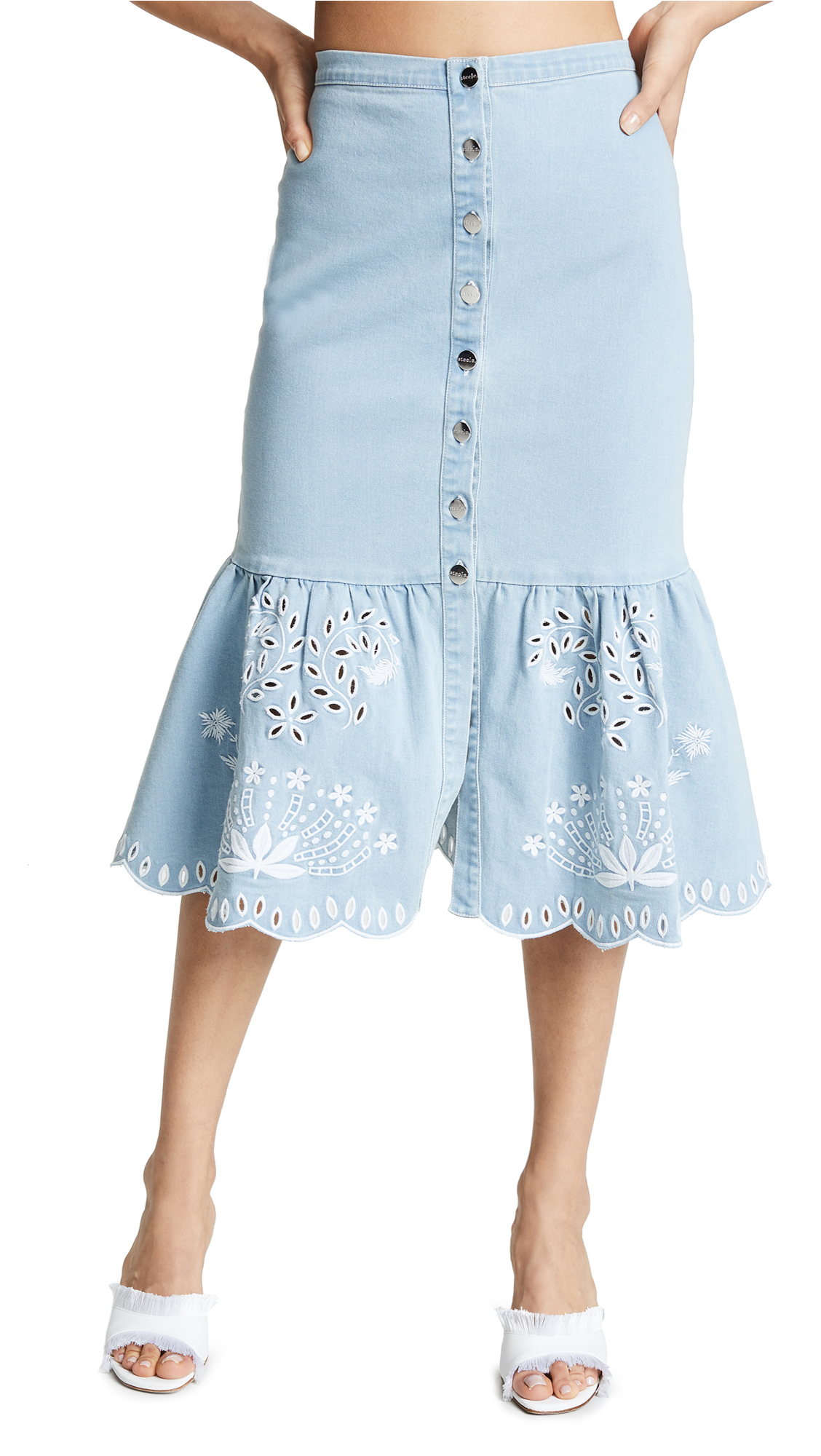 STEELE Cecil Skirt in Blue Wash