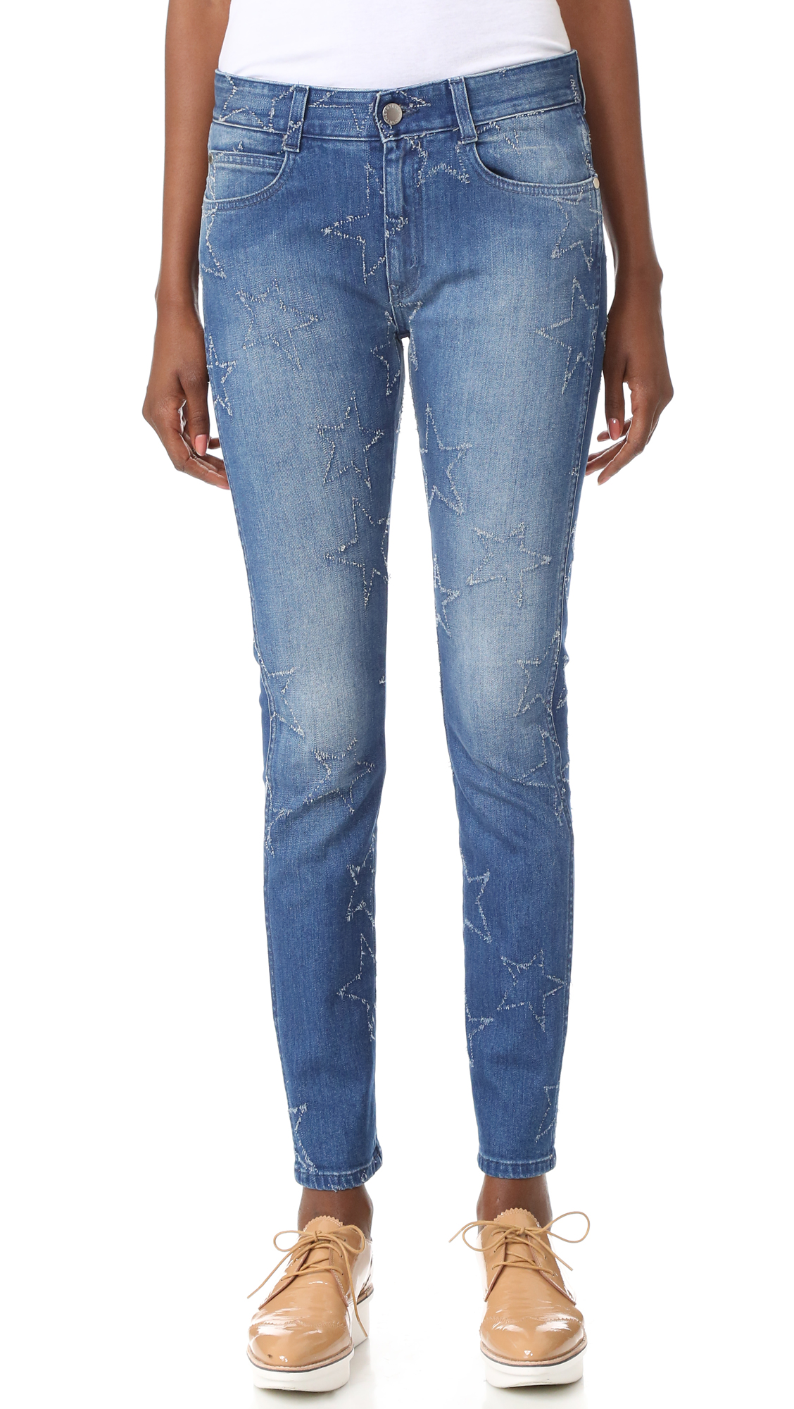 Stella McCartney Skinny Boyfriend Jeans - Deep Blue