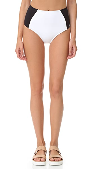 Stella McCartney Stella Iconic Colorblock High Waist Bikini Bottoms