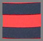 Flame/Navy Stripe