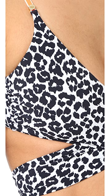 Stella McCartney Mixed Animals Wrap Bikini Top