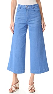 Stella McCartney Flared Cropped Jeans