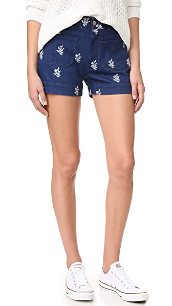 Stella McCartney Denim Shorts In Blue