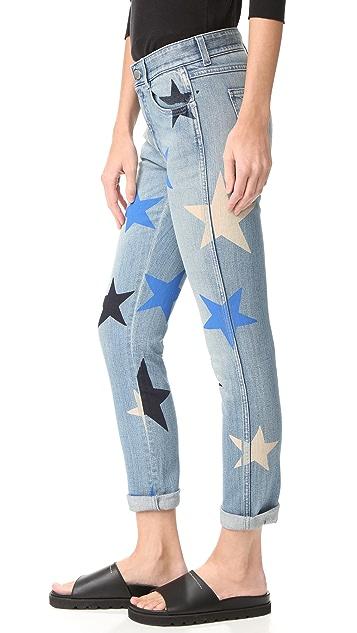 Stella McCartney Skinny Boyfriend Star Print Jeans