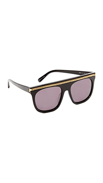 Stella McCartney Falabella Chain Flat Top Sunglasses