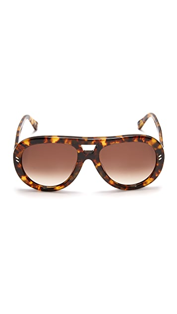 Stella McCartney Pilot Aviator Sunglasses
