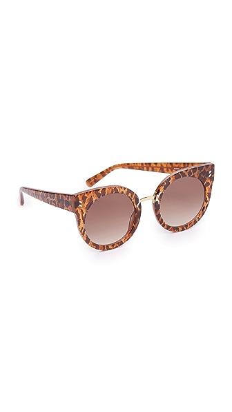 Stella McCartney Круглые солнцезащитные очки «кошачий глаз»