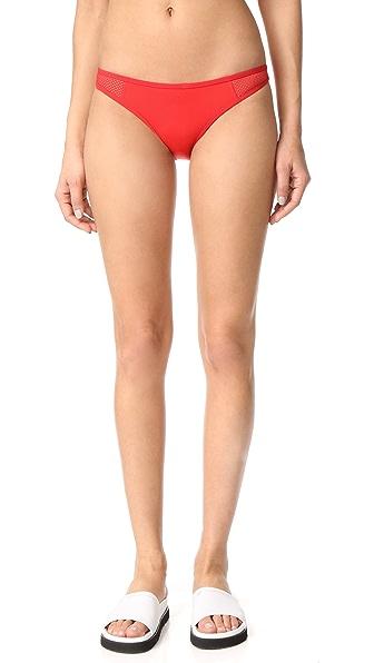 Stella McCartney Classic Bikini Bottoms In Salsa Red