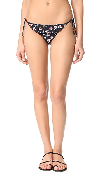 Stella McCartney Grungy Flower Tie Side Bikini Bottoms