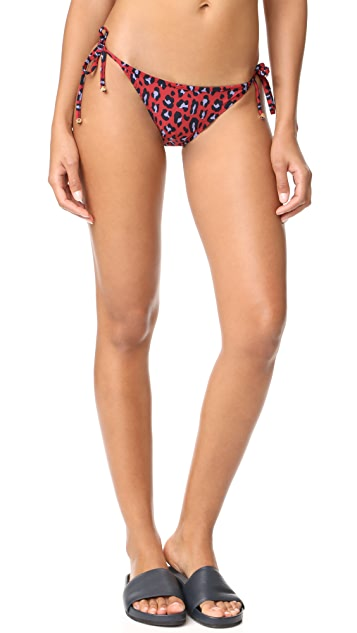 Stella McCartney Leopard Tie Side Bikini Bottoms