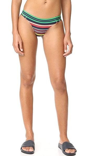 Stella McCartney Stripe Classic Bikini Bottoms In Multicolor