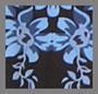 Blue Gesso Floral Print