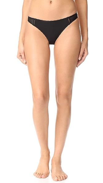 Stella McCartney Stella Soft Mesh Thong In Black