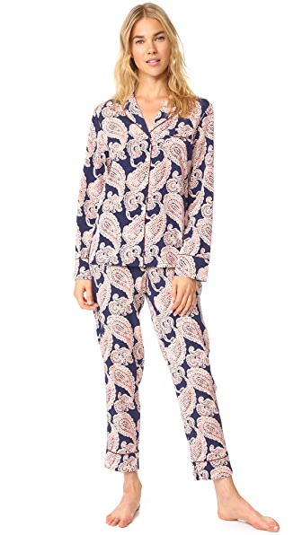Stella McCartney Poppy Snoozing Long PJ Set In Paisley Print