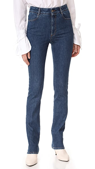 Stella McCartney High Waisted Straight Jeans In Midnight