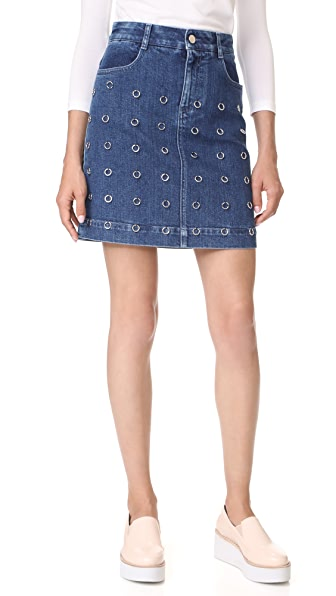 Stella McCartney Miniskirt In Dark Blue