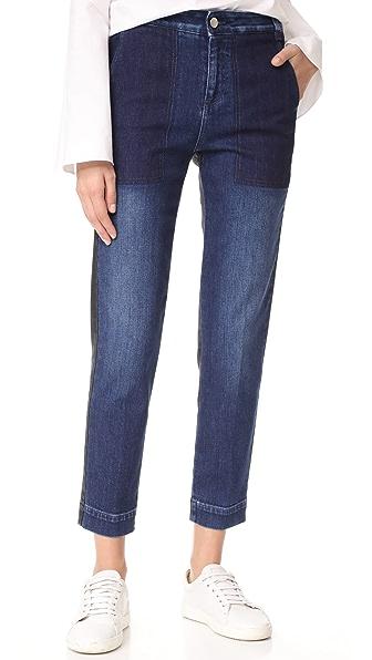 Stella McCartney Trouser Jeans In Dark Blue