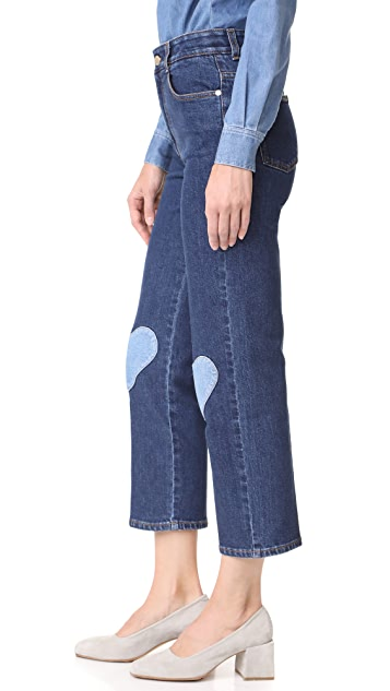 Stella McCartney Heart Patch Crop Jeans