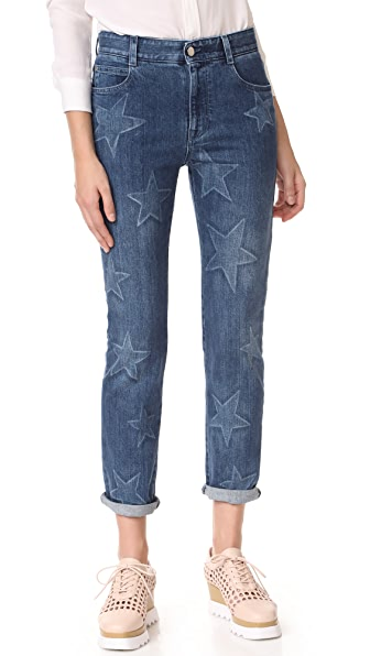 Stella McCartney Faded Star Boyfriend Jeans at Shopbop