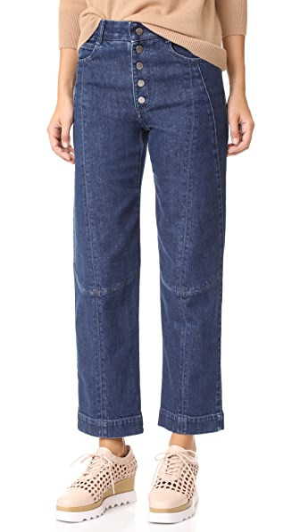 Stella McCartney Yara Denim Trousers - Blu Jeans