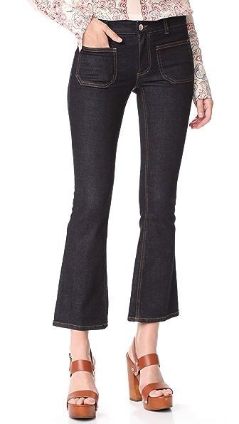 Stella McCartney Skinny Kick Patch Stretch Jeans - Raw Blue