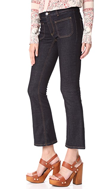 Stella McCartney Skinny Kick Patch Stretch Jeans
