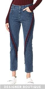 The Boyfriend Velvet Ribbon Detail Jeans Stella McCartney