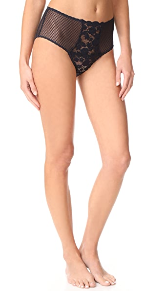 Stella McCartney Elsa Endearing High Cut Briefs In Night Sky