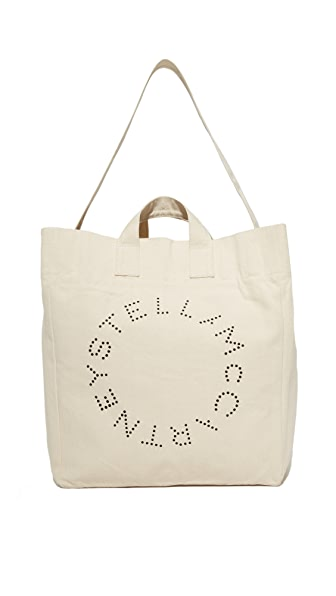 Stella McCartney Beach Bag Circle Logo - Ecru