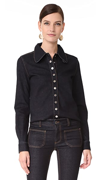 Stella McCartney Stretch Denim Shirt - Raw Blue