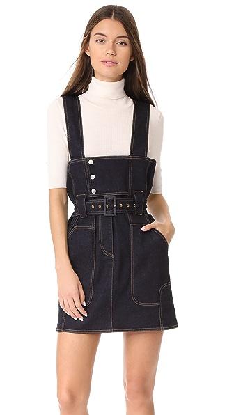 Stella McCartney Stretch Overall Dress - Raw Blue