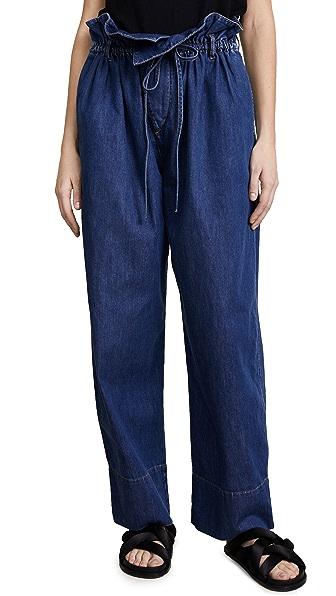 Stella McCartney Olive Paper Bag Waist Jeans at Shopbop