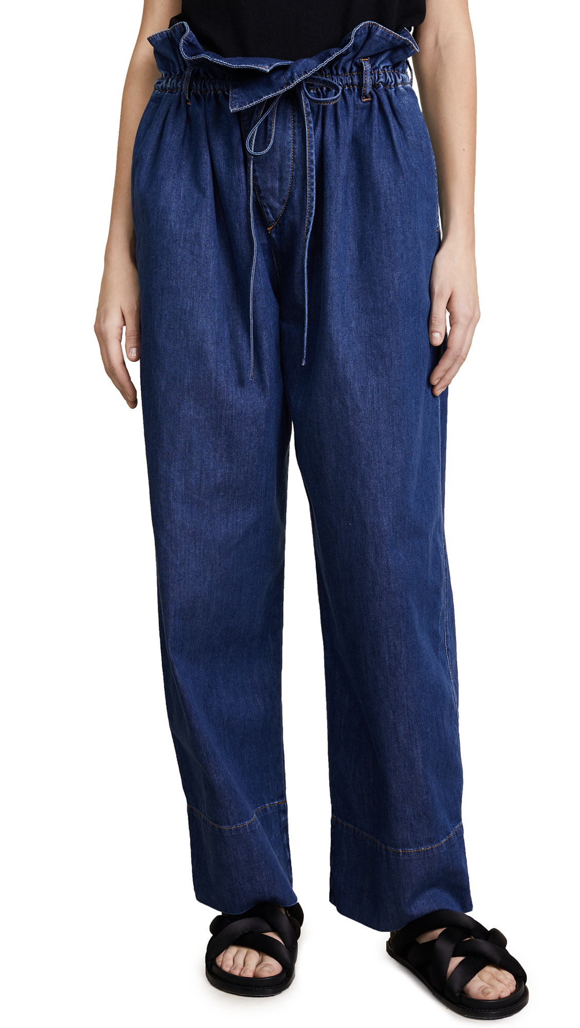 Stella McCartney Olive Paper Bag Waist Jeans - Dark Blue