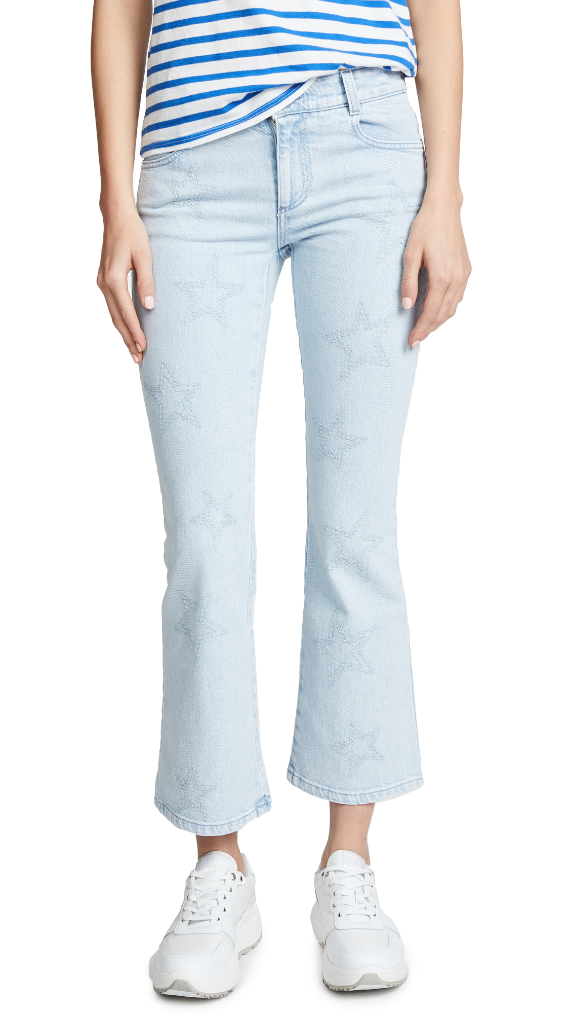 The Skinny Light Wash Flare Jeans