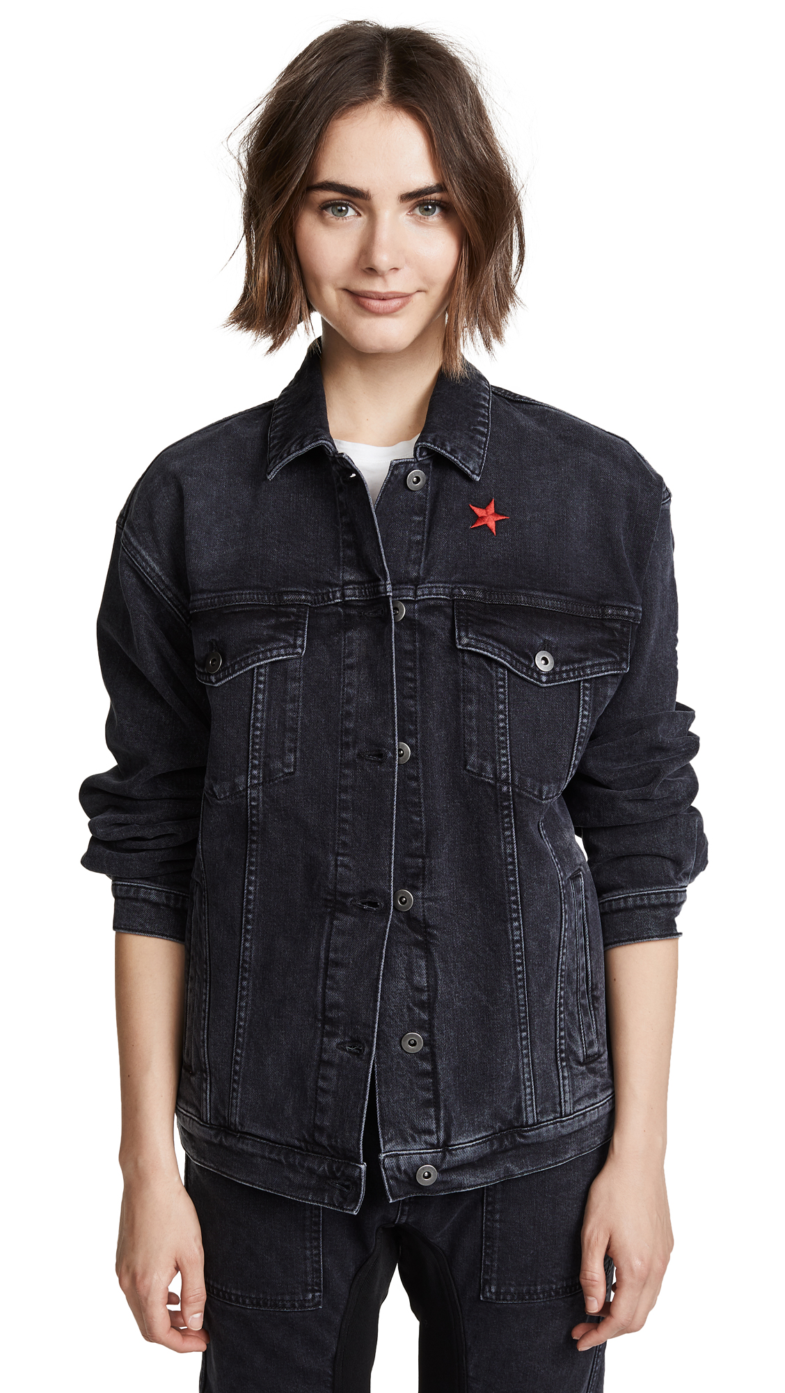 Stella McCartney Denim Jacket In Black