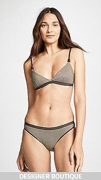 ed8aecca9dd Stella McCartney. Lame Triangle Bikini Top