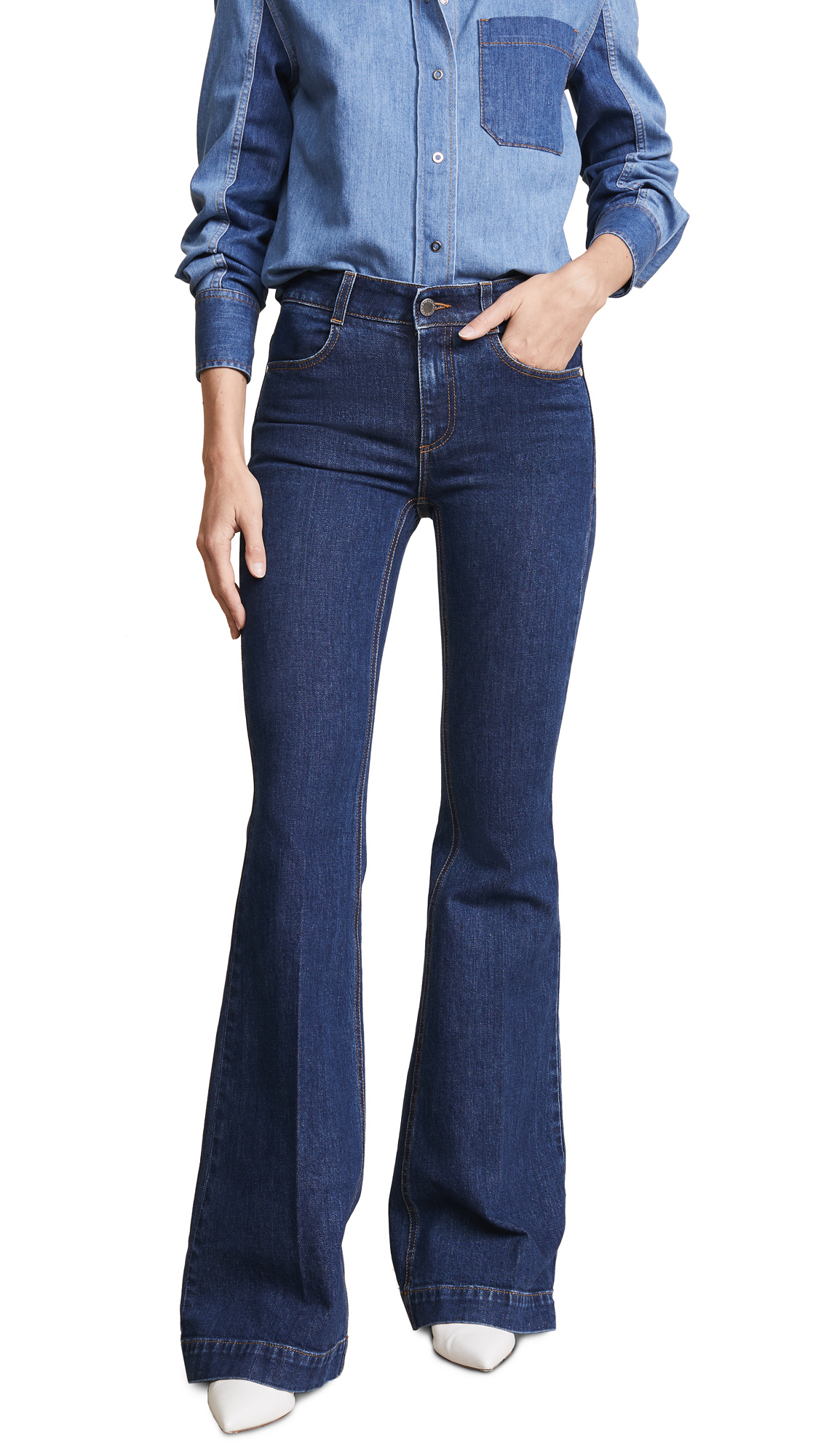 Stella McCartney The 70's Flare Jeans In Midnight