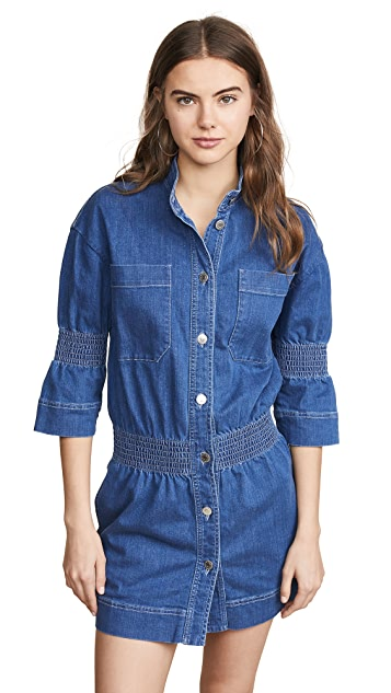 Stella McCartney Denim Collared Dress