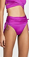 Stella McCartney Draped High Waist Bikini Bottoms