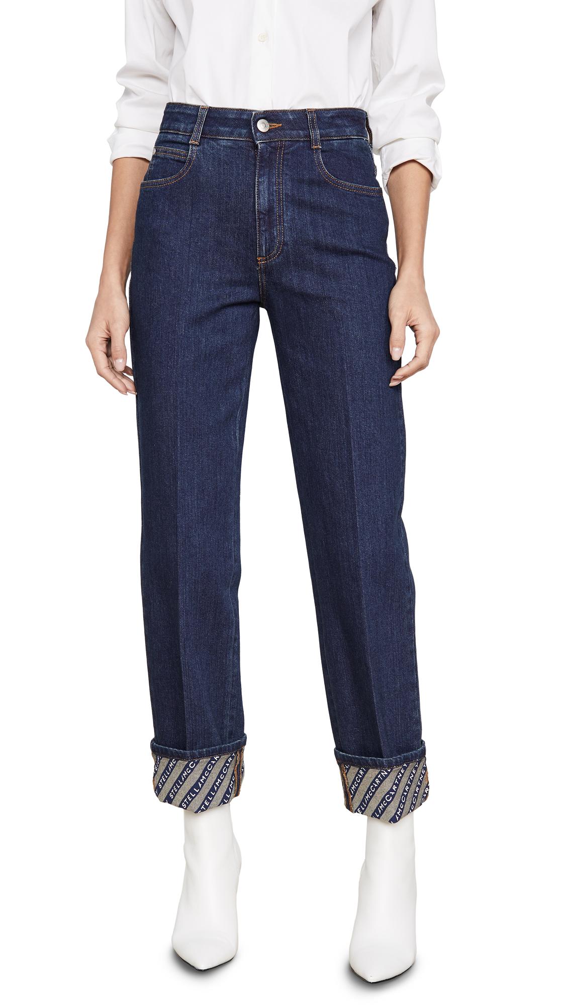 Buy Stella McCartney online - photo of Stella McCartney Denim Eco Dark Org. Logo Print Jeans