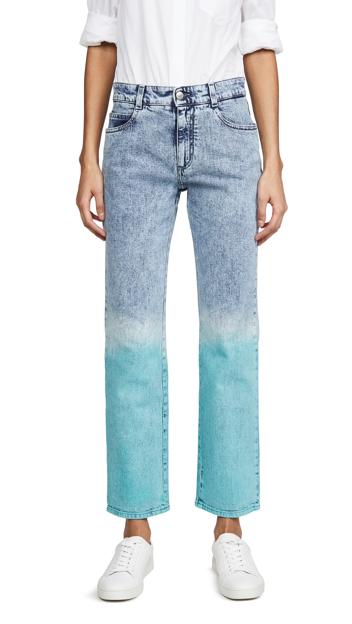 Buy Stella McCartney online - photo of Stella McCartney Mid Rise Boyfriend Retro Stone Jeans