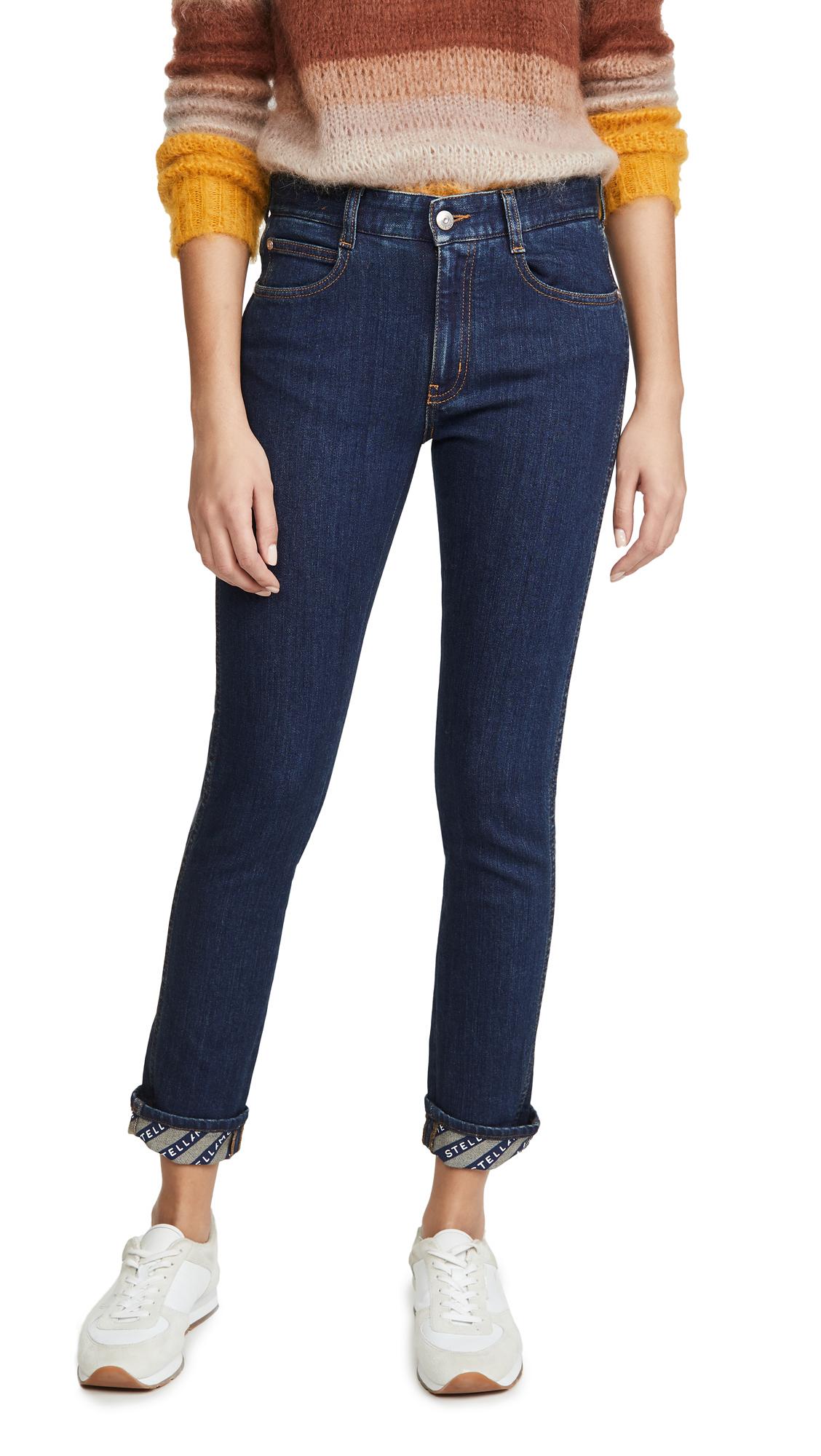 Buy Stella McCartney online - photo of Stella McCartney Skinny Boyfriend Eco Dark Logo Jeans